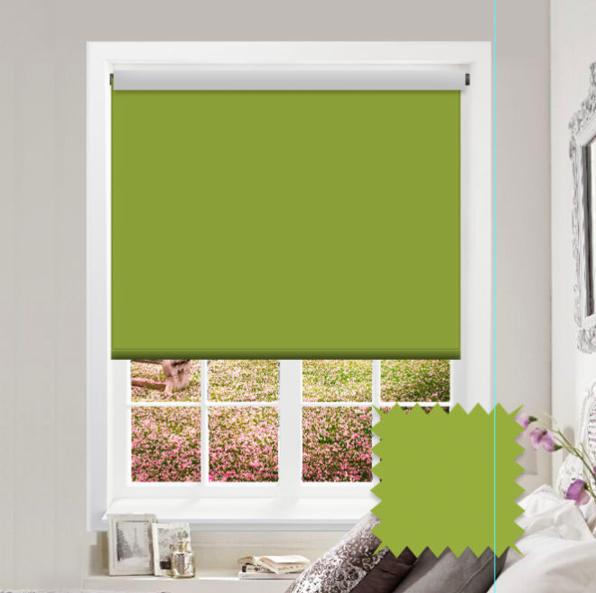 Green Roller Blind - Bahamas Lime Plain - Just Blinds